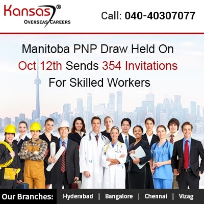 Manitoba PNP Draw Held On Oct 12th Sends 354 Invitations For Skilled Workers