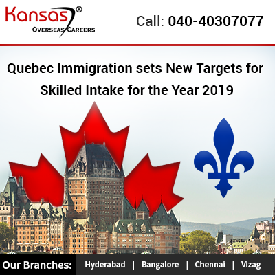 Quebec Immigration sets New Targets for Skilled Intake for the Year 2019